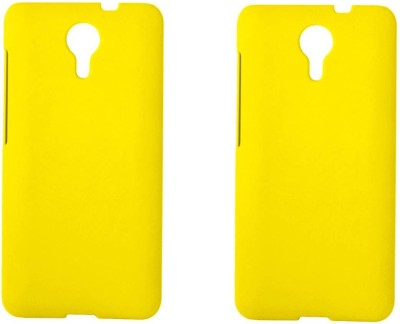 Chappie Moustache Back Cover for Micromax Canvas Xpress 2 E313(Yellow, Plastic)