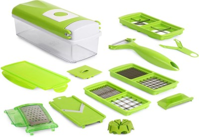 Blue Birds Nicer Dicer Plus by Genius | 13 pieces | kiwi-green | Fruit and vegetable slicer | As seen on TV| slicer & Chopper(Green)  available at flipkart for Rs.540