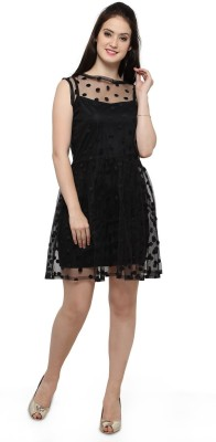 Smarty Pants Women Fit and Flare Black Dress