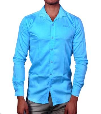 layba Men's Solid Formal Light Blue Shirt