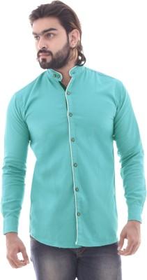 COBIO MAN Men Solid Casual Green Shirt
