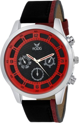 Fogg 1124-BK-RD Elegant Analog Watch For Men