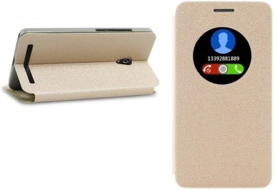 SmartLike Flip Cover for Asus Zenfone 3s Max(Gold, Artificial Leather)