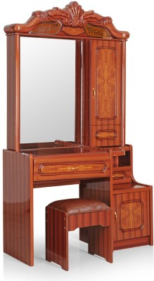 RoyalOak Lotus Engineered Wood Dressing Table(Finish Color   Brown)