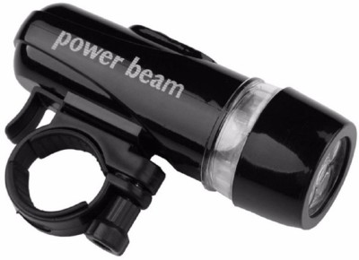 Star Bicycle 5 LED Power Beam LED Front Light(Black, Silver)  available at flipkart for Rs.197