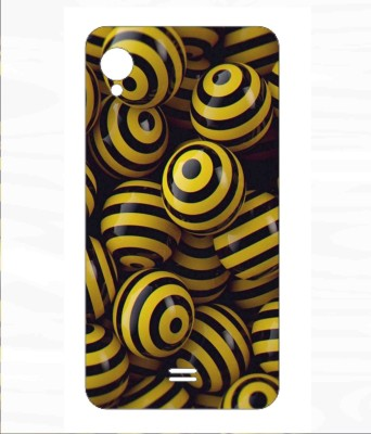 Snooky Intex Cloud 4G Smart Mobile Skin Yellow Snooky Mobile Skin Stickers