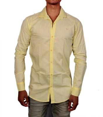 Layba Men's Solid Formal Yellow Shirt