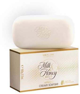 oriflam Milk & Honey Gold softening creamy Soap Bar(pack of 6) 600g(600 g)  available at flipkart for Rs.353