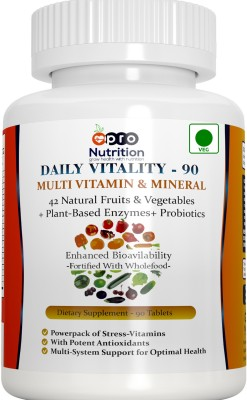 Pro Nutrition Daily Vitality Multivitamin and Mineral Plus Enzymes (90 Capsules)