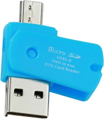 Freya Micro SD OTG USB 2.0 TWO IN ONE ANDROID ADAPTOR Card Reader(Multicolor)