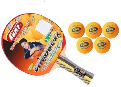GKI Combo of two, one 'Offensive XX' table tennis racquet and one set of 'five' 'KUNG FU' Ping Pong Balls- Table Tennis Kit  available at flipkart for Rs.1445