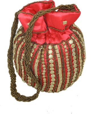 Kuber Industries Ethnic Work Rajasthani Potli Bag / Clutch / Bridal Clutch Potli(Multicolor)  available at flipkart for Rs.299