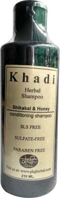 Khadi Herbal shikakai & honey conditioning sls free shampoo 210 ml(210 ml) Flipkart