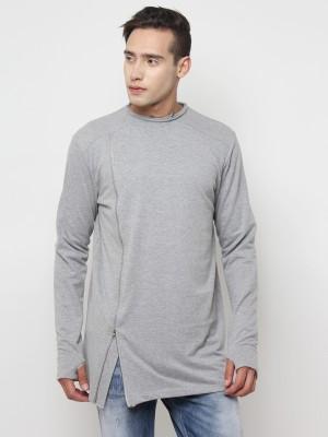 02bb3041eed58 SayItLoud Solid Men s Round Neck Grey T-Shirt