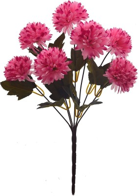 Fourwalls Fourwalls Chrysanthemum Ball Flower Bouquet (49 cm, Light Pink, 7 Branches) Multicolor Assorted Artificial Flower(10 inch, Pack of 1)  available at flipkart for Rs.175