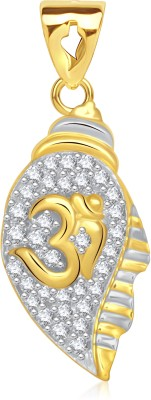 VK Jewels Divine Om Gold-plated Cubic Zirconia Alloy Pendant