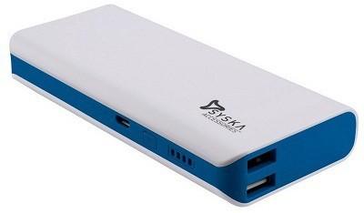 Syska X-100 Power Bank, 10000 mAh (White & Blue)