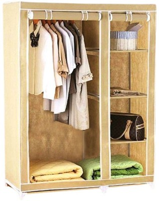 Evana CREAM WARDROBE -01 Carbon Steel Collapsible Wardrobe(Finish Color - Cream)