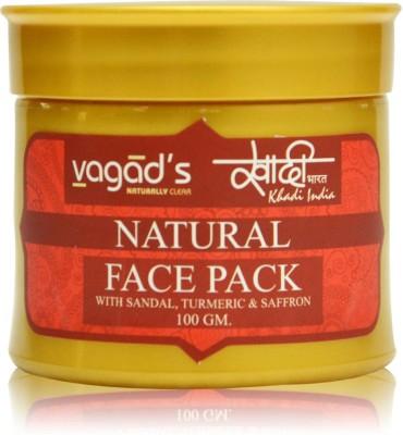 vagad's khadi sandal turmeric& safron herbal face pack(100 g)  available at flipkart for Rs.80
