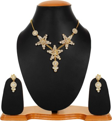 Styles Creation Alloy, Crystal Jewel Set(Gold) at flipkart