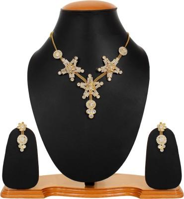 Styles Creation Alloy, Crystal Jewel Set(Gold) at flipkart