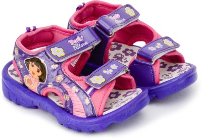 Dora Girls Velcro Sports Sandals(Purple)
