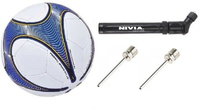 Nivia Combo of Three, One Vega Football, One Double action air inflation ball Pump and 2 Needles. Football Kit  available at flipkart for Rs.999