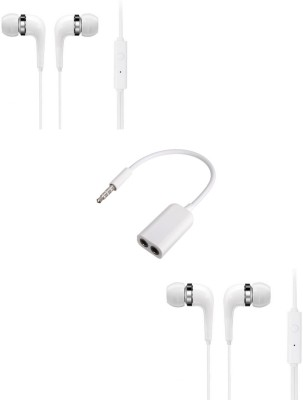 Furst Headphone Accessory Combo for Intex Aqua Fish(White)