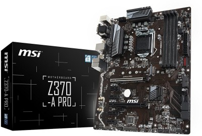 MSI Z370-A PRO LGA 1151 VR Ready 64GB DDR4 ATX Motherboard(Black)
