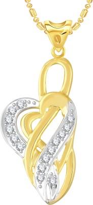 VK Jewels Heart 18K Yellow Gold Cubic Zirconia Alloy Pendant