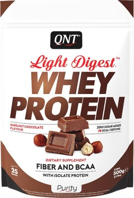 QNT Light Digest Whey Protein(500 g, hazelnut chocolate)