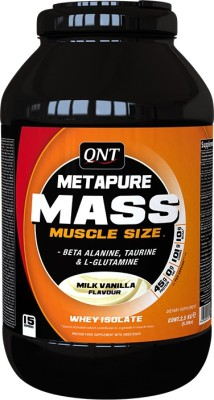 QNT Metapure Mass Weight Gainers(2.5 kg, Milk Vanilla)