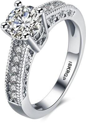 Yellow Chimes Designer Ring Metal Rhodium Plated Ring at flipkart