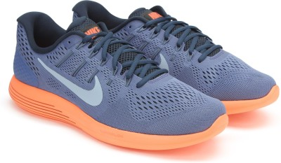 Nike LUNARGLIDE 8 Running Shoes For Men(Blue) 1