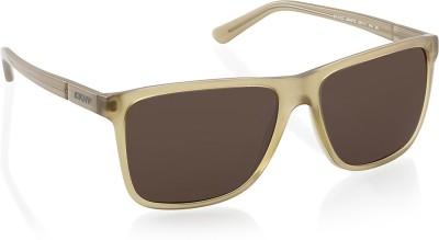 DKNY Rectangular Sunglasses(Brown) at flipkart