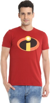 The Incredibles Graphic Print Men's Round Neck Red T-Shirt