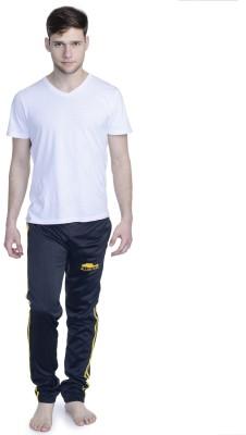 THE MENS STOP Printed Men's Black Track Pants