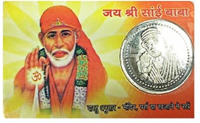 Earth Ro System Om Sai Baba Shree Sai Yantra back side shree sai yantra Coin Card pocket yantra Plated Yantra(Pack of 1)  available at flipkart for Rs.196