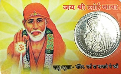 Earth Ro System Om Sai Baba Shree Sai Yantra back side shree sai yantra Coin Card pocket yantra Plated Yantra(Pack of 1)  available at flipkart for Rs.198
