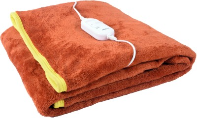 selective Plain Single Electric Blanket Orange(1 Blanket)  available at flipkart for Rs.849