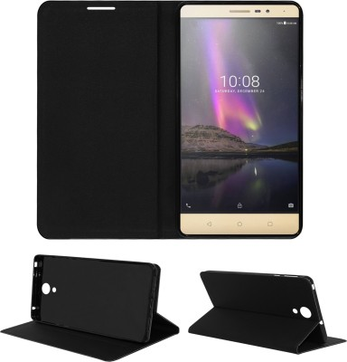 ACM Flip Cover for Lenovo Phab 2(Black, Cases with Holder, Artificial Leather)
