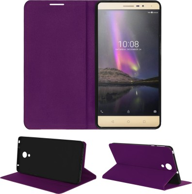 ACM Flip Cover for Lenovo Phab 2(Purple, Cases with Holder, Artificial Leather)