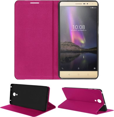 ACM Flip Cover for Lava X81 4G(Blue, Cases with Holder, Artificial Leather)