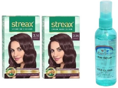 STREAX Burgundy No. 3.16, Pink Root Hair Serum(Set of 3)  available at flipkart for Rs.338
