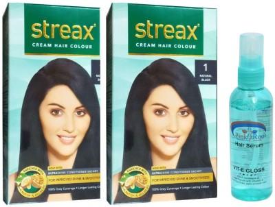 STREAX Natural Black No. 1, Pink Root Hair Serum(Set of 3)  available at flipkart for Rs.338