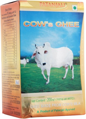 Patanjali Cow's Ghee 200 ml Box