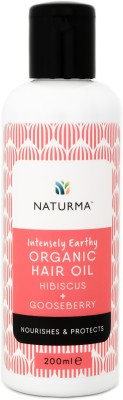 Naturma Intensely Earthy Organic Hibiscus + Gooseberry  Hair Oil(200 ml)  available at flipkart for Rs.495