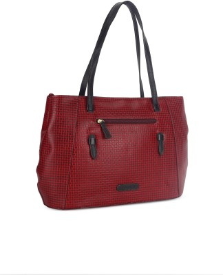 Hidesign Hand-held Bag(Red, Brown)