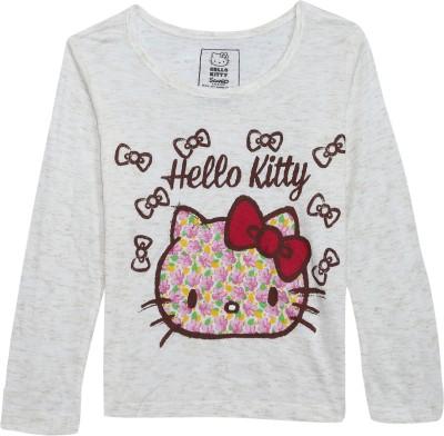34903a77b 49% OFF on Hello Kitty Girl's Graphic Print Viscose T Shirt(Grey, Pack of  1) on Flipkart   PaisaWapas.com