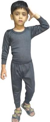 Rosset Top - Pyjama Set For Boys & Girls(Grey, Pack of 2)